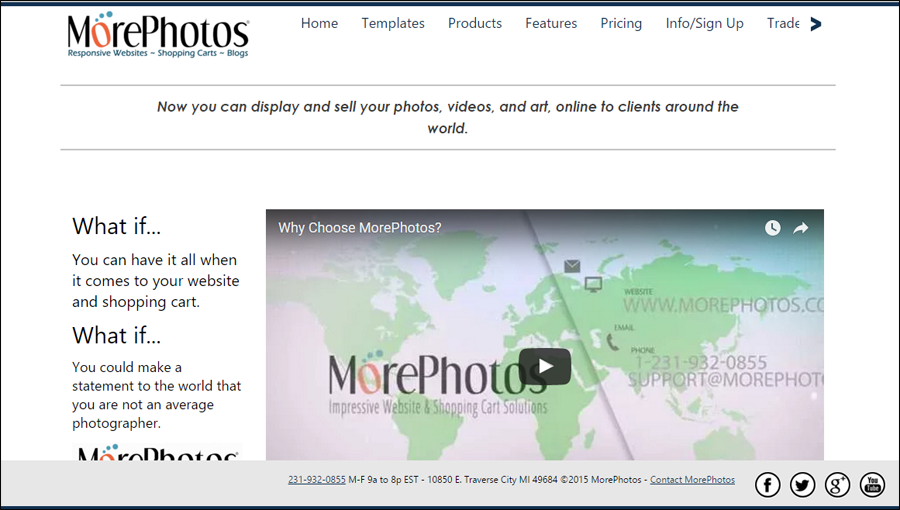Template site Morephotos uses